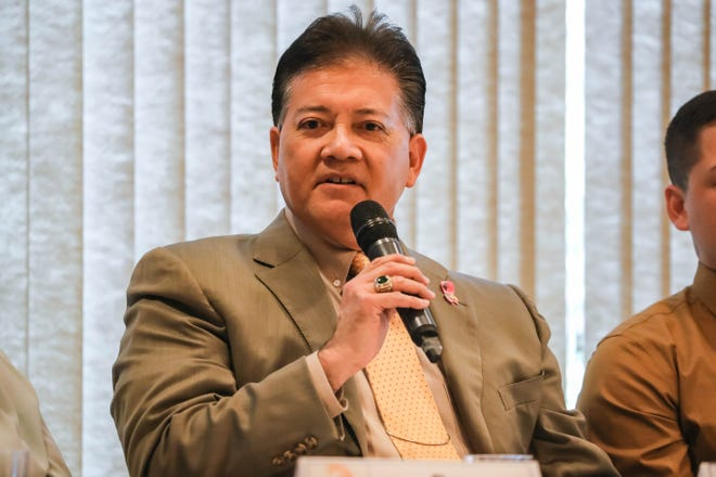 Mayor Ken Miyagishima speaks at a In the Know Luncheon: Mayoral Candidate Panel in Las Cruces on Wednesday, Oct. 16, 2019.