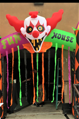 "A creepy clown reminiscent of ""It"" will greet visitors to the fun house. as part of the Haunted House of midtown Ruidoso."