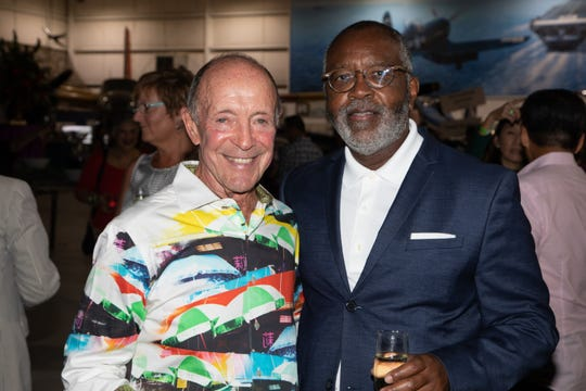 Lulu Catering & Events owner Jerry Keller enjoys a moment with Tony Grandberry.