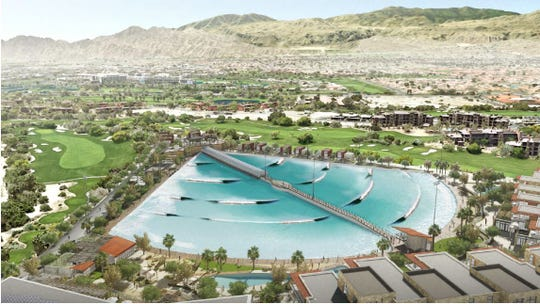 A rendering of the planned DSRT Surf resort planned to be built at Desert Willow, by BAR Architects.