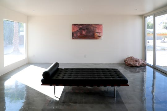 The newly restored interior of Albert Frey's Guthrie House in Palm Springs, Calif. is shown on Wednesday, October 16, 2019.