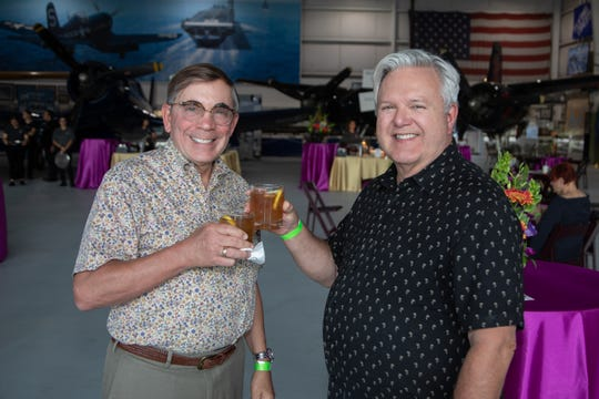 Palm Springs Mayor Robert Moon attended with his husband, Bob Hammack.