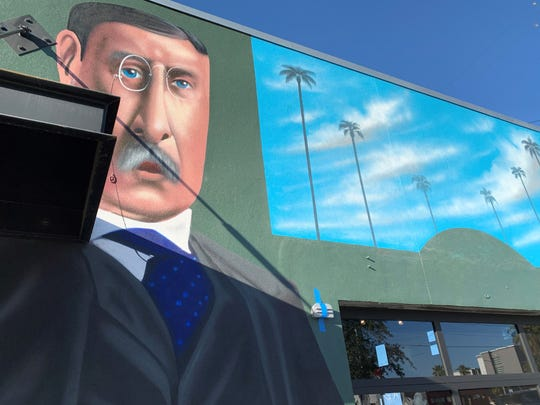 A mural painted by local artist Tato Caraveo decorates the outside of the Theodore, a new craft beer bar opening on Roosevelt Row in downtown Phoenix.