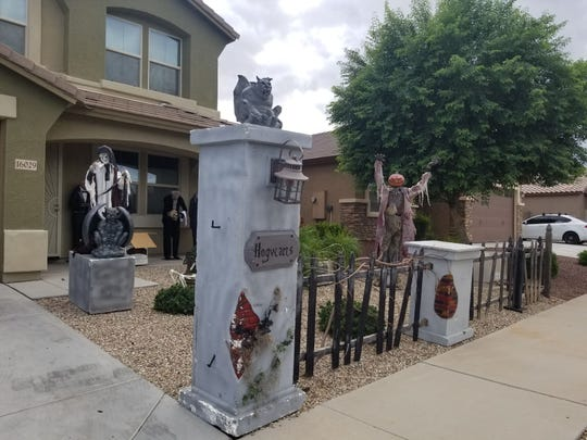 Halloween thrill seekers can't miss the home in a quiet Surprise neighborhood. Over-sized characters and a giant dragon beckon those wanting an exceptional scare.