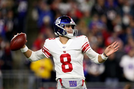 Will quarterback Daniel Jones (8) lead the New York Giants to a win over the Arizona Cardinals on Sunday?