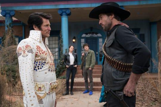 "Woody Harrelson (from left), Emma Stone, Jesse Eisenberg and Luke Wilson star in ""Zombieland: Double Tap."""