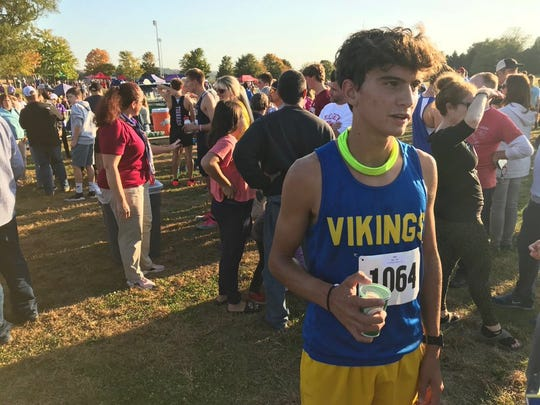 Northern Lebanon's Gage Krall talks about winning his first Lancaster-Lebanon League cross country title on Tuesday.