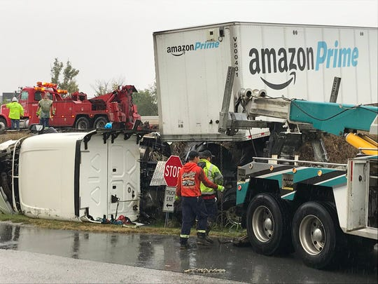 A tractor-trailer crash has closed Interstate 83 South.