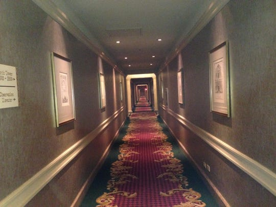 A hallway at the Westgate Las Vegas Resort & Casino, near the elevators reported to be haunted.