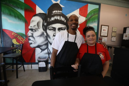 Lavar and Tricia McKnight, a married couple who have known each other since middle school, opened Tricia's Kitchen on Hudson Ave. in 2018.  They serve Spanish food and soul food because it combines both of their cultural heritages.