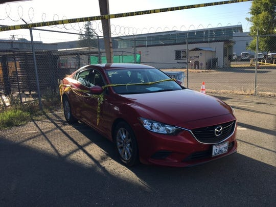This is the car the suspect and one of his eventual victims were driving over the last few days, police said.