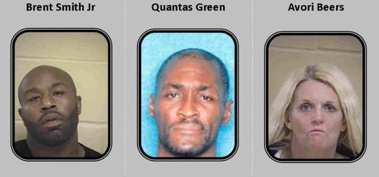 From left to right: Brent Smith Jr., Quantas Green and Avori Beers.