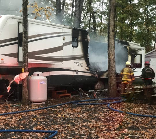 A woman was killed and a man injured Wednesday morning in an Augusta County fire at the Waynesboro North 340 Campground.