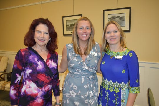 Indian River County National Philanthropy Day Co-Chairs Kerry Bartlett, left, and Jessica Schmitt with Tracey Segal.
