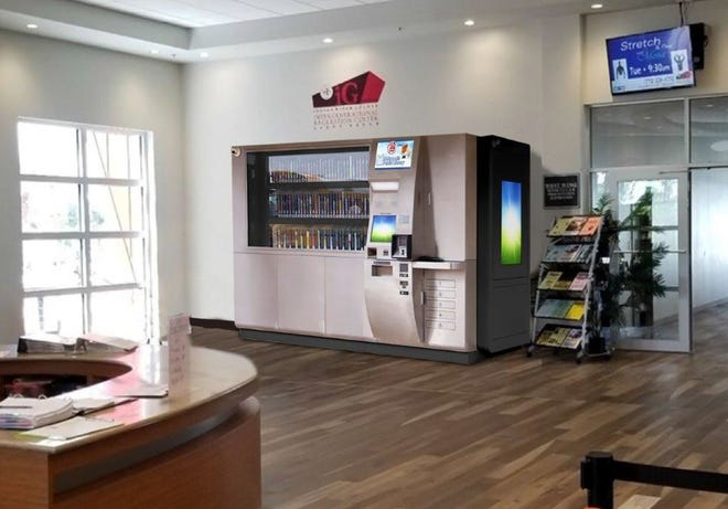 An automated library vending machine, the first in Florida, will be installed in Indian River County's Intergenerational Center early next near.