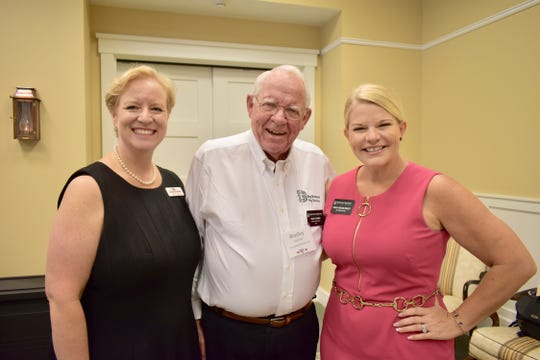 Kim Lorimier, left, National Philanthropy Day honoree Bradley Lorimier and Stacey Watson-Mesley at the Oct. 2, 2019, breakfast for honorees.
