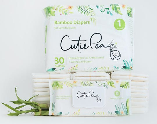 Cutie Pea bamboo diapers