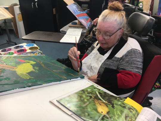 Judy Lally has been attending an adult day program for disabled people in Thousand Oaks for 12 years. The program is closing at the end of October.