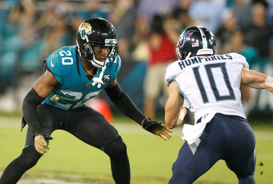 Cornerback Jalen Ramsey, left, who the Rams acquired on Tuesday, has been one of the top defensive playmakers in the league.