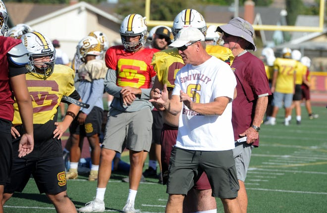 """Simi Valley head coach Jim Benkert is """"fired up"""" that football will played this school year — even if the season won't start until January."""