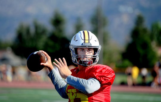 Simi Valley High sophomore quarterback Travis Throckmorton, a transfer from Westlake, has completed 77 of 109 pass attempts for 1,113 yards, 12 touchdowns and an interception since taking over the starting role in Week 3.