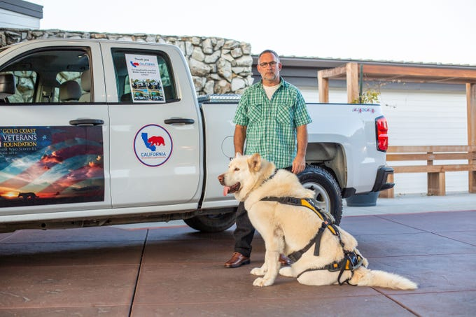 The pickup donated by California Resources Corp. is expected to enhance outreach efforts by Rafael Stoneman and Leo to homeless veterans in Ventura County. The truck was presented to Stoneman during a recent golf fundraiser for Gold Coast Veteran Foundation.