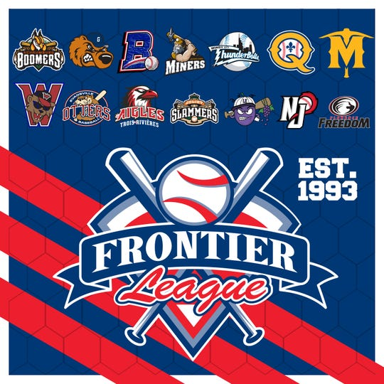 The Frontier League logo and all the teams that will play in the league