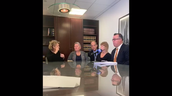 12 women sue the New York School for the Deaf in Greenburgh alleging a house parent, Joseph Casucci, sexually abused them in the 1960s and 1970s. Facebook video from Paul Mones Attorney