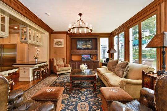 Living room at 10 Sheldrake Lane in New Rochelle