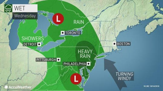 Storms are expected to strike the Lower Hudson Valley on Oct. 16, 2019.