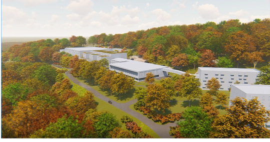 A rendering of the future audio-visual production center with housing on 242 acres in western Ramapo planned by the Jehovah's Witnesses.