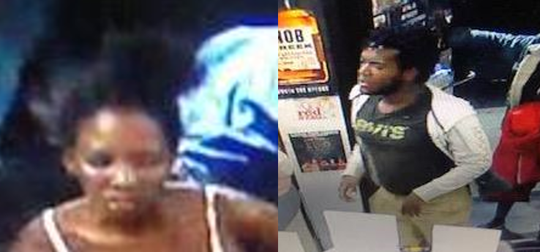 Delaware State Police are searching for these suspects, who they say were involved in a stabbing at a New Castle area liquor store.