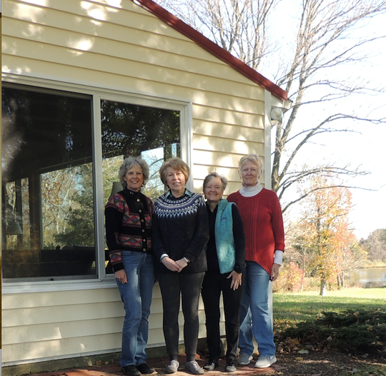"The authors of the poetry book ""Walking the Sunken Boards,"" from left: Wendy Elizabeth Ingersoll, Gail Braune Comorat, Jane Miller & Linda Blaskey"