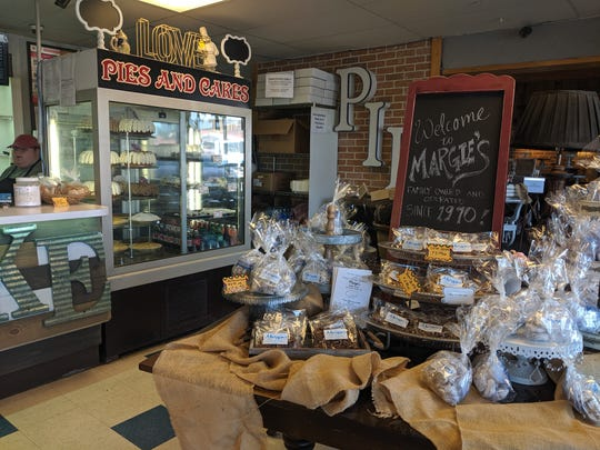 Inside Margie's Bakery & Deli.