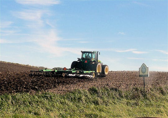 A Waunakee farmer was able to disk his well drained land in preparation for later liquid manure spreading.