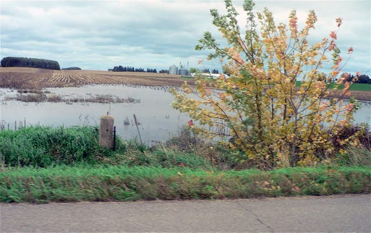 Lot of water but luckily the corn is already gone.