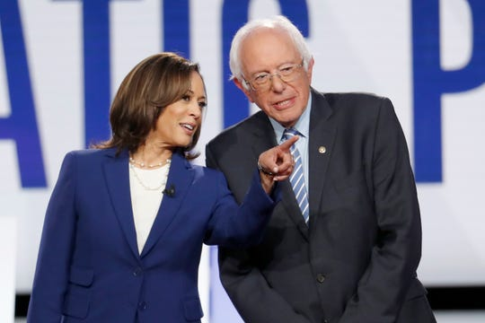 Sen. Kamala Harris, D-Calif. and Sen. Bernie Sanders, I-Vt., both will attend the California Democratic Party Convention this weekend in Long Beach. Former Vice President Joe Biden and Sen. Elizabeth Warren, D-Mass., will not.