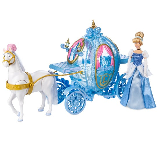 A handsome steed takes Cinderella on a ride she will always remember.