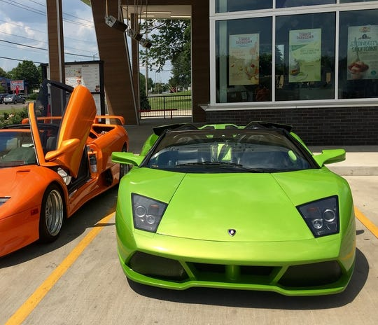A retired cop in Tennessee named Randy Morrow is selling this custom built replica of a 2010 Lamborghini LP 640 for $40,000.  Authentic versions of the luxury sports car sell for over $200,000.  The body shop that built the car covered it in a pearlescent coating of green and did most of the major work, but Morrow added the finishing touches.