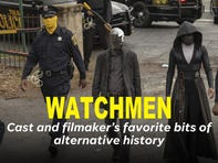 Characters of HBO's 'Watchmen' including Regina King, Jean Smart and Jeremy Irons talk about their favorite bits of alternative history in the show.