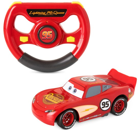 Hit the speedway withthis Lightning McQueen remote control car.