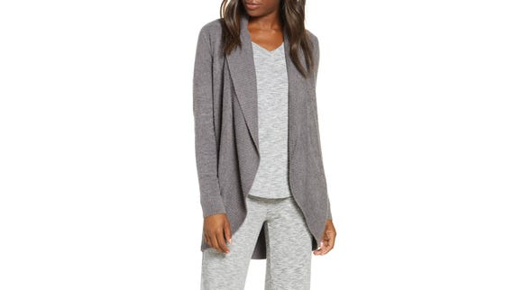 Best gifts for grandma 2019: Barefoot Dreams CozyChic Lite Circle Cardigan.