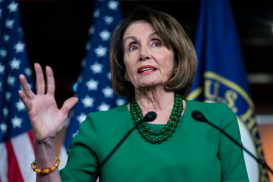 Democratic Speaker of the House from California Nancy Pelosi announces that the House will not yet hold a formal vote to authorize an impeachment inquiry against President Trump on Oct. 15, 2019.