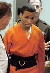 Convicted D.C.-area sniper Lee Boyd Malvo, here in 2004 at a circuit court in Spotsylvania, Va., wants the Supreme Court to rule that his life-without-parole sentence should be reconsidered.