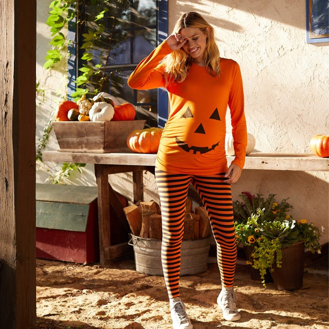 Your bump is your best accessory this Halloween.
