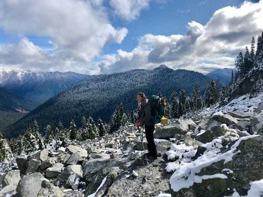 Appleton native Mei Lin McKinney in Washington during the last few weeks of her five-month trek up the Pacific Crest Trail.