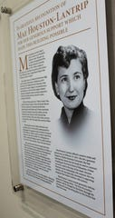A plaque at the south entrance to the Houston-Lantrip Center for Literacy and Learning tells about Mae Houston-Lantrip, an Abilene native and 1947 Hardin-Simmons graduate who taught both in the local school district and at her alma mater. Oct 17 2019