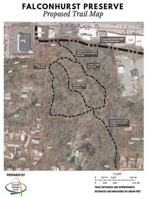 Asheville city officials are partnering with MountainTrue to build natural surface trails within the Falconhurst Nature Preserve. The 7.9-acre preserve was deeded to the city in 2012 as a conservation easement from the Conservation Trust of NC, requiring the land to remain undeveloped with few exceptions.