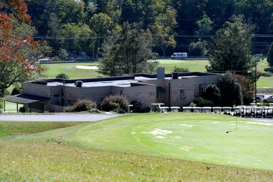 A view of the clubhouse and the 18th hole of the Asheville Municipal Golf Course on Oct. 17, 2019.