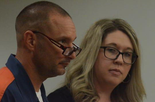 Thomas Krause II with his attorney, Kimberly Wickham on Thursday.
